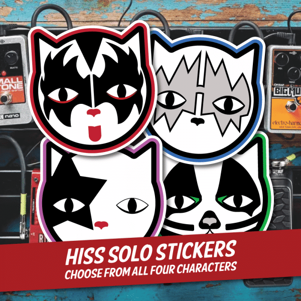 Sabbath and Francis HISS Solo Stickers