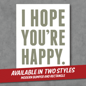 D Goone - I Hope You're Happy Stickers