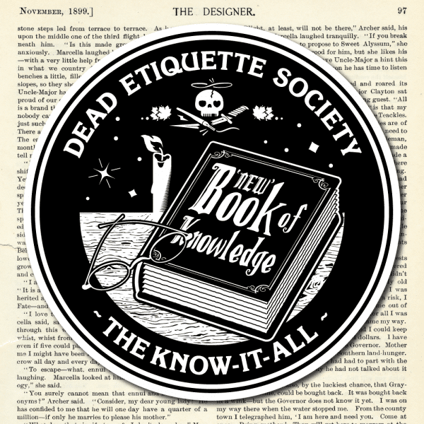 Dead Etiquette Society - The Know-It-All - Black