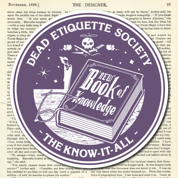 Dead Etiquette Society - The Know-It-All - Nightshade
