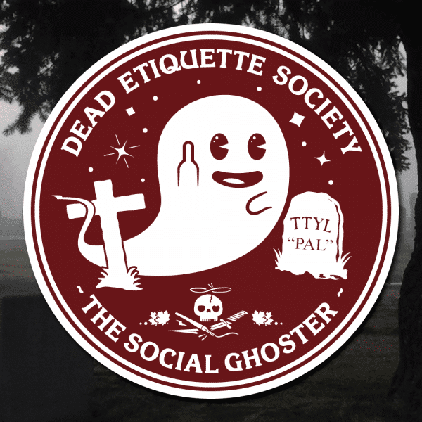 Dead Etiquette Society - The Social Ghoster - Oxblood